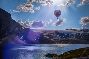 Norway Lake Landscape Air Balloon 5k