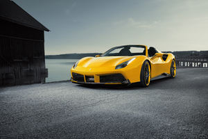 Novitec Ferrari Spider 488 Yellow Roadster Wallpaper