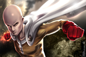 One Punch Man 5k Art Wallpaper