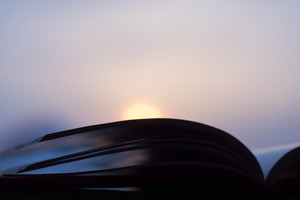 Open Book Sunset Photography Minimalism Wallpaper