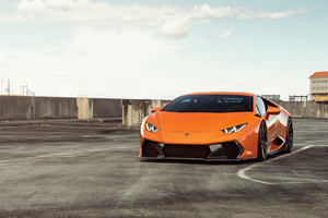 Orange Lamborghini Huracan 8k 2018 Wallpaper
