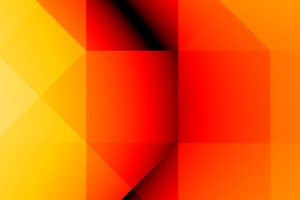 Orange Yellow Shapes Wallpaper