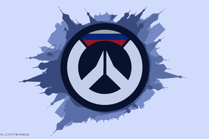 Overwatch 4k Minimalism Logo Artwork