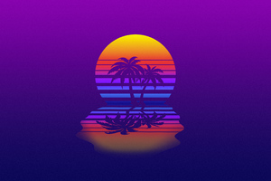 Palm Tree Synthwave