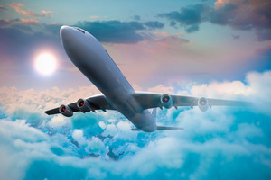 Passenger Airplanes Clouds 5k Wallpaper