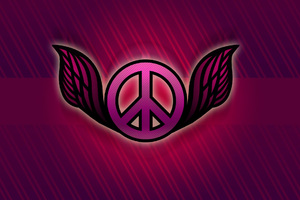 Peace Logo Abstract Wallpaper