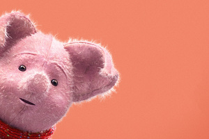 Piglet In Christopher Robin 2018 Movie 5k Wallpaper