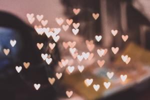 Pink Bokeh Hearts 4k Wallpaper
