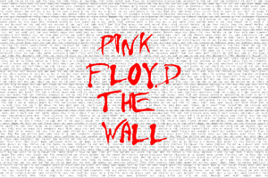 Pink Floyd The Wall Typography 4k Wallpaper
