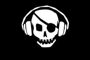 Pirate Skull Headphones Wallpaper