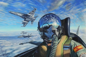 Plane Rider Amazing Cockpit View Wallpaper