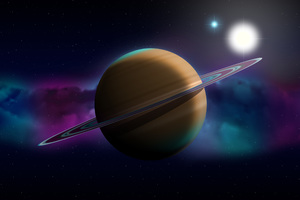 Planet Space Digital Art Wallpaper