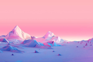 Polygon Mountains Minimalist Wallpaper