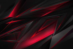 Polygonal Abstract Red Dark Background Wallpaper