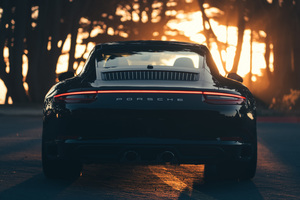 Porsche Carrera 911 Black Wallpaper