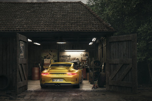 Porsche Gt3 Barn Wallpaper