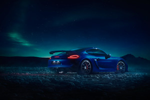 Porsche GT4 Northern Lights Wallpaper