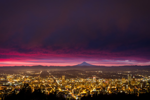 Portland Sunrise Wallpaper