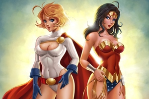 Power Girl And Wonder Woman