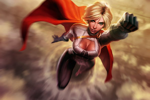 Power Girl Artwork Wallpaper