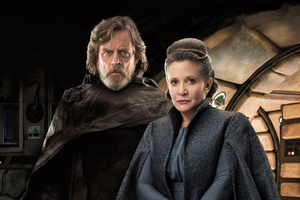 Princess Leia And Luke Skywalker In Star Wars The Last Jedi Movie