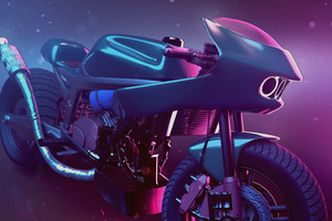 Psyclone Bike Art 4k Wallpaper