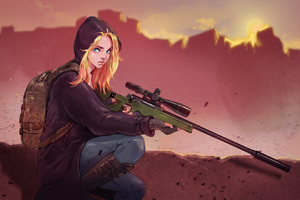 Pubg Game Girl Fanart