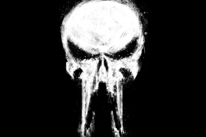 Punisher Paint Art Wallpaper
