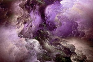 Purple Glowing Clouds Abstract 5k Wallpaper