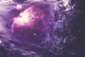Purple Nebula 4k Wallpaper