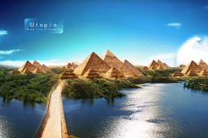 Pyramids Of Utpoia Beautiful Scenery Wallpaper