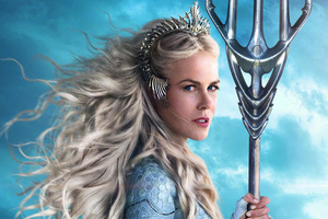 Queen Atlanna As Nicole Kidman In Aquaman Movie Wallpaper