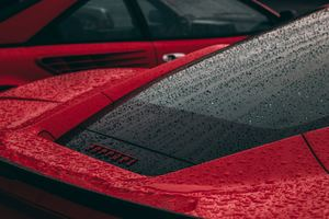Rain Drops On Ferrari Wallpaper