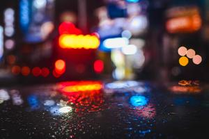 Rainy Day Lights Water Drops 4k Wallpaper