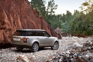Range Rover Rock Mountains