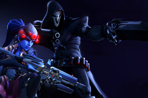 Reaper And Sombra Wallpaper