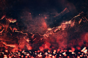 Red Abstract Fire Texture 5k