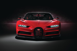 Red Bugatti Chiron Sport 2018 4k Wallpaper