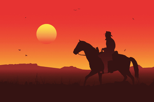 Red Dead Redemption 2 Illustration 5k Wallpaper