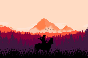 Red Dead Redemption 2 MInimal Art 4k Wallpaper