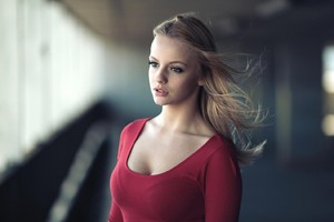 Red Dress Blonde