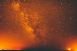 Red Milky Way Galaxy Space Night Stars 5k Wallpaper