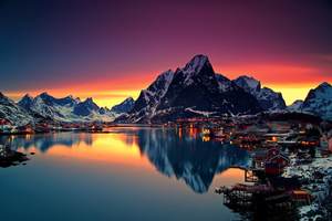 Reinebringen Mountains In Norway Wallpaper