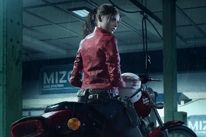 Resident Evil 2 2019 Claire Redfield Harley Davidson Wallpaper