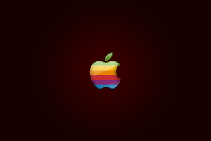 Retro Apple Logo Wallpaper