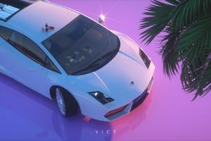 Retro Lamborghini Artwork Wallpaper