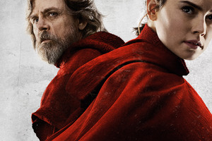 Rey And Luke Skywalker In Star Wars The Last Jedi 2017 Wallpaper