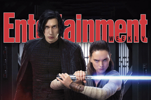 Rey Kylo Ren Star Wars The Last Jedi In Entertainment Weekly Magazine