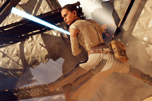 Rey Star Wars Battlefront 2 8k Wallpaper