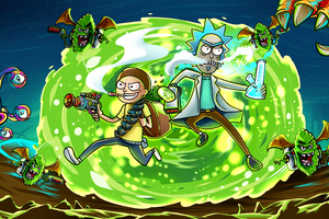 Rick And Morty In Another Dimension Illustration